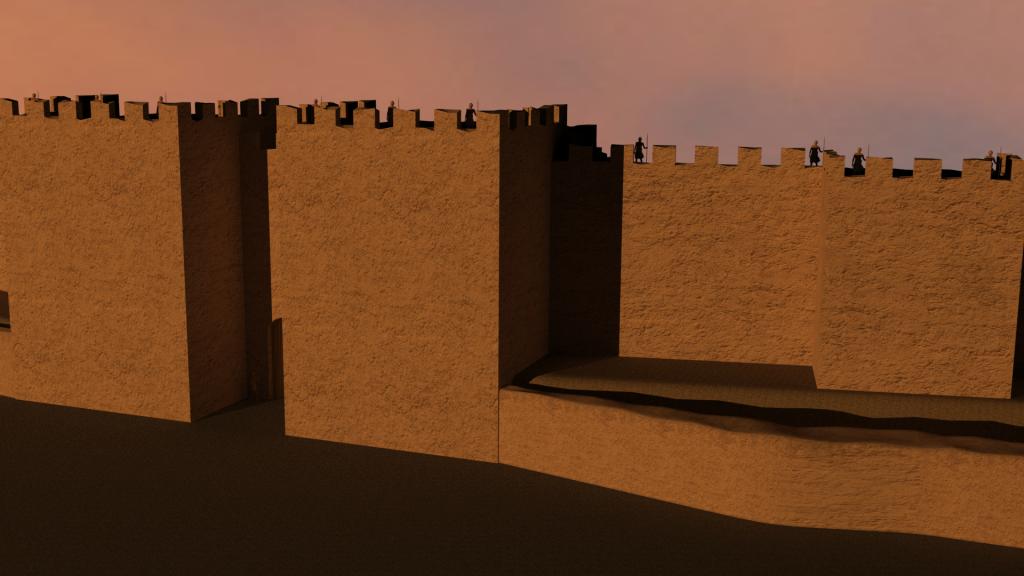 Ebla: ipotesi ricostruttiva delle mura